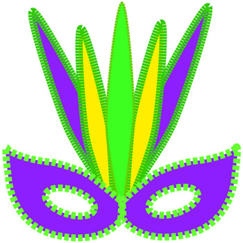 350x350 Mardi Gras Clip Art Tribal Mask