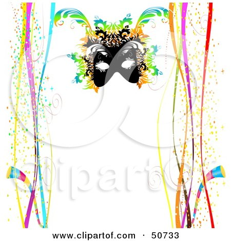 450x470 Clipart Illustration Of A Colorful Mardi Gras Confetti Border