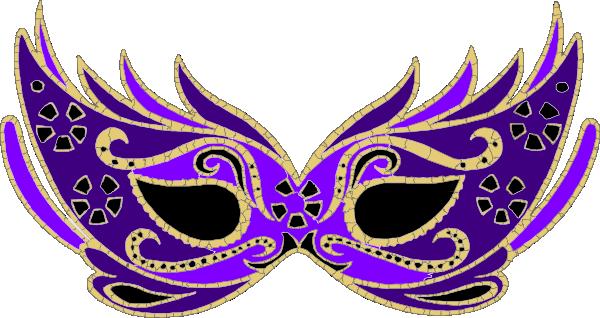 600x318 Purple Masquerade Mask Clip Art