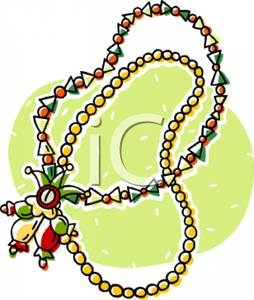 254x300 Gras Beads With A Jester Talisman Clipart Picture
