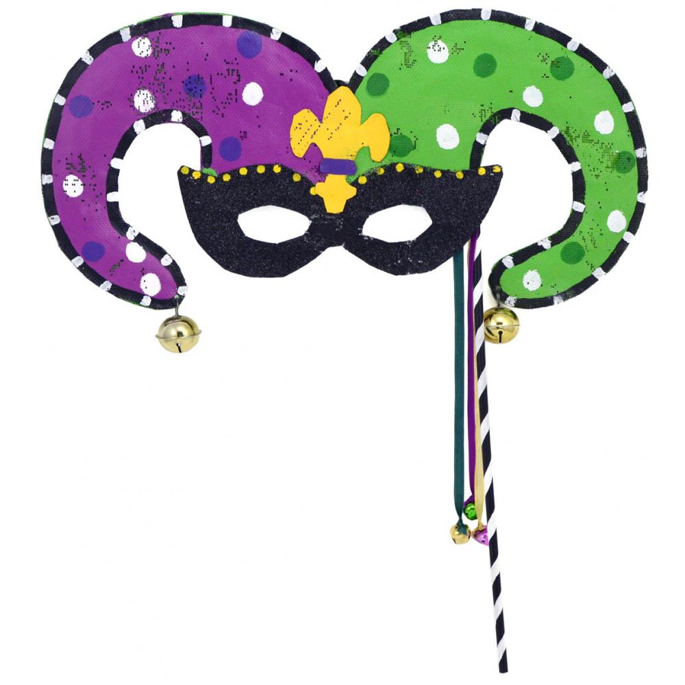 1000x1000 Mardi Gras Jester Mask Door Hanger Screenings