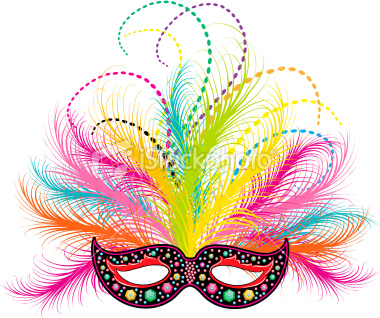 380x318 Mardi Gras Mask Clipart