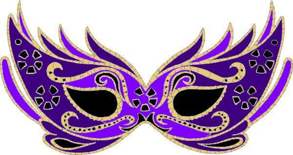 600x318 Mardi Gras Masks Clip Art