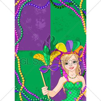325x325 Mardi Gras Masks Gl Stock Images