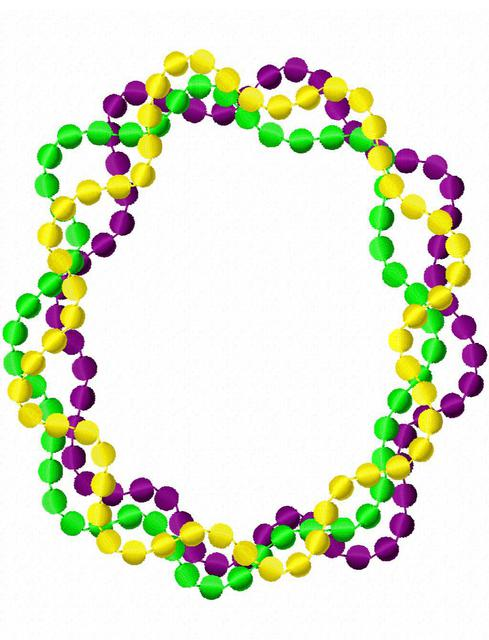 Image result for mardi gras beads clipart