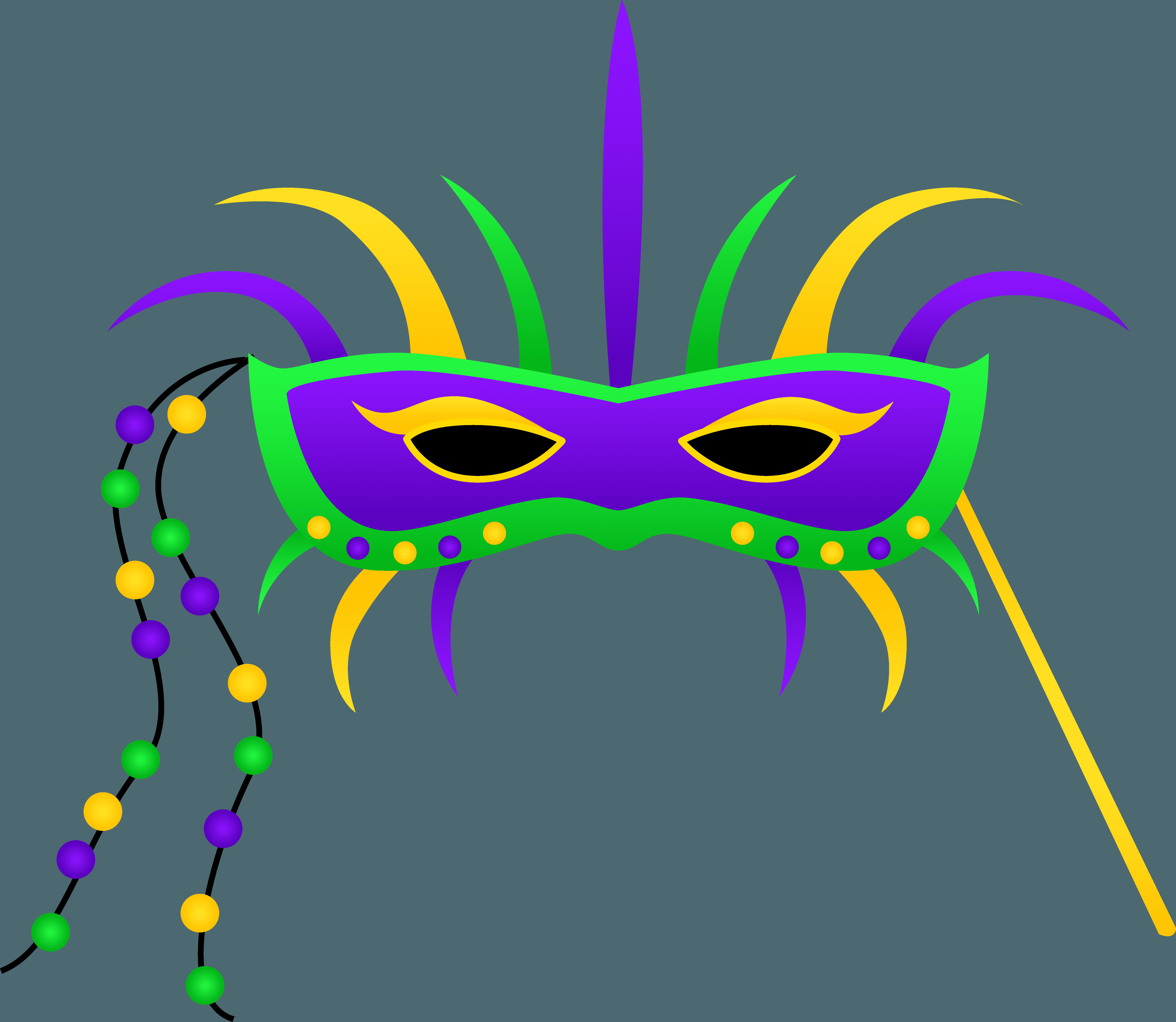 6684x5806 Mardi Gras Jester Clipart