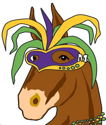 349x411 Mardi Gras Party Mule Graphic Free Clipart Images