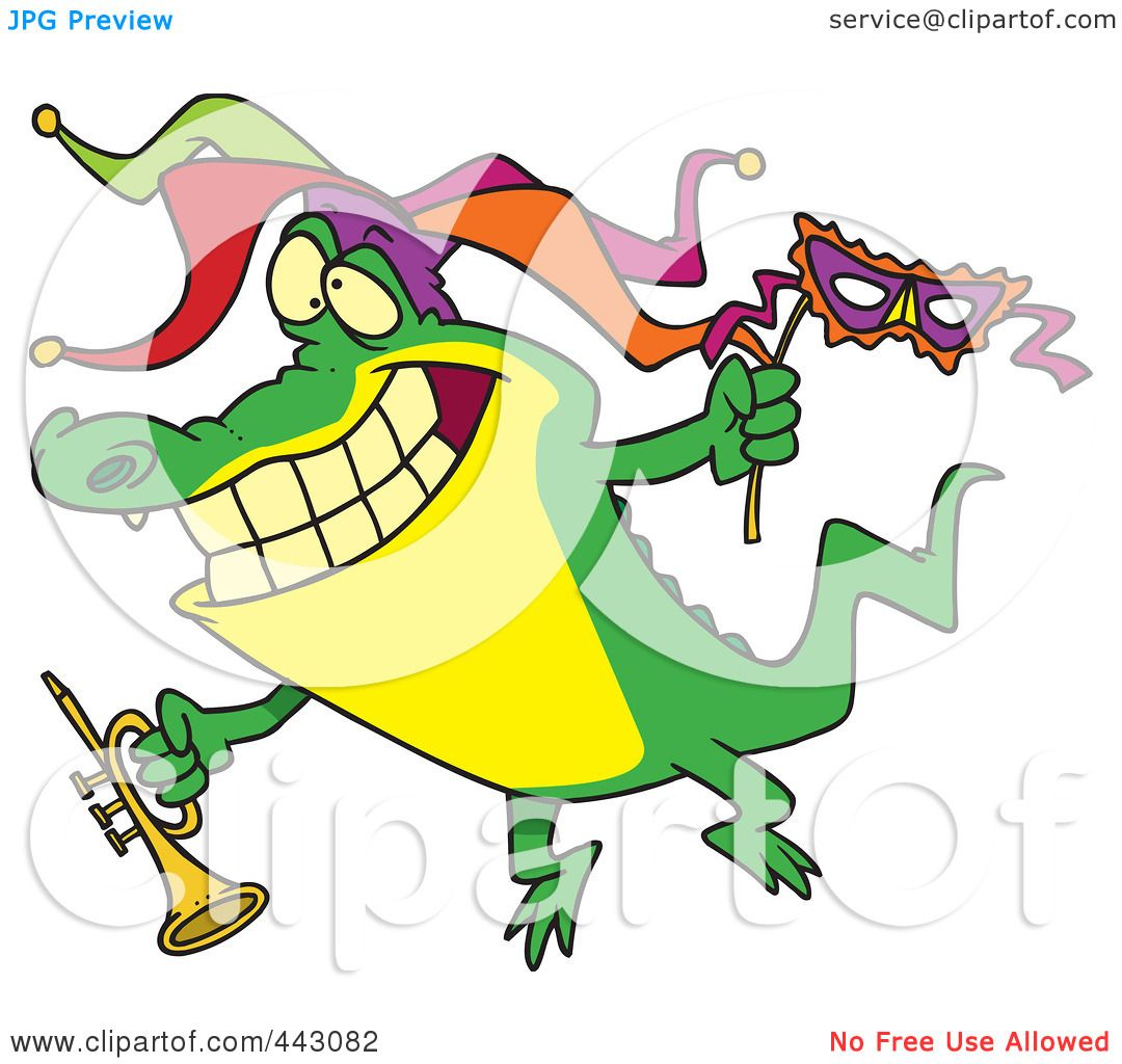 1080x1024 Royalty Free (Rf) Clip Art Illustration Of A Cartoon Mardi Gras