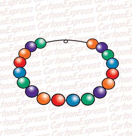 455x467 Beads Necklace Clipart