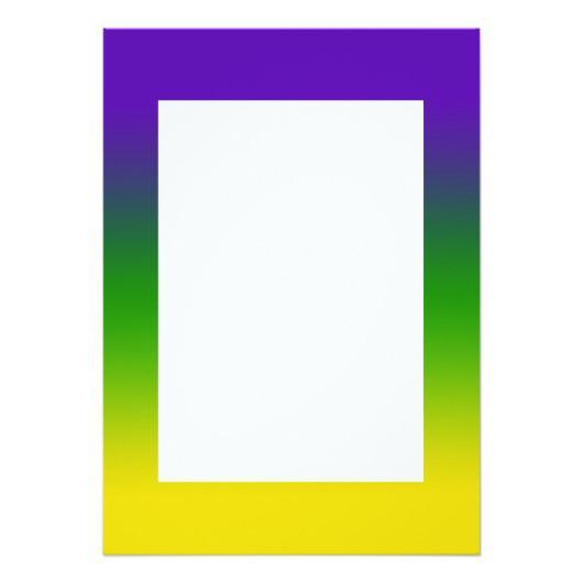 530x530 Mardi Gras Tri Color Border Invitation Invitations 4 U