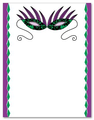 325x414 Mardi Gras Border Clip Art Clipart
