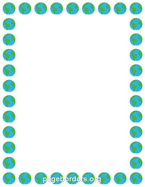 470x608 Earth Border Tu Earth, Border Templates And Clip Art