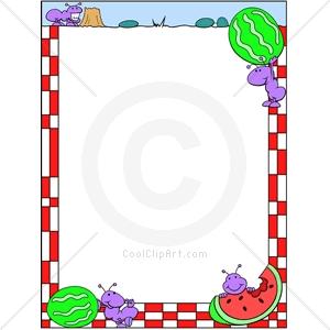 300x300 Free Clip Art Picnic Borders