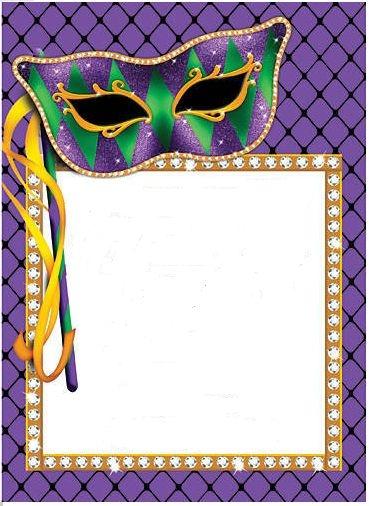 369x506 Mardi Gras Clip Art Borders