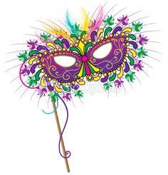 236x245 New Orleans Mask Clip Art