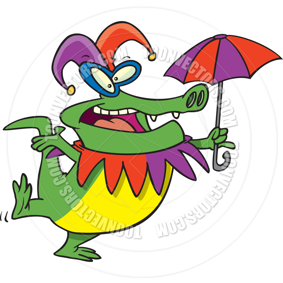 940x940 Cartoon Mardi Gras Gator By Ron Leishman Toon Vectors Eps