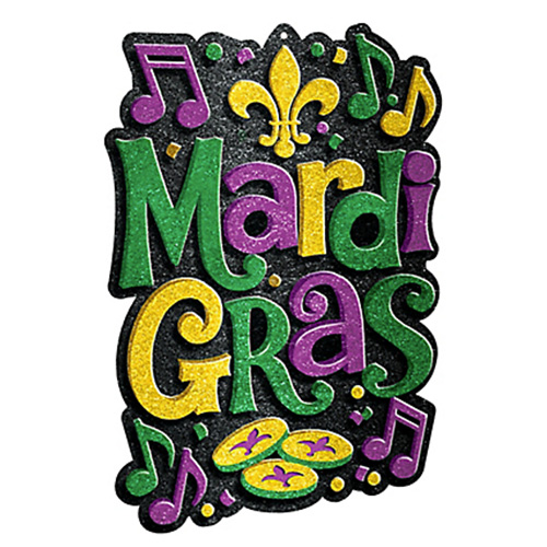 500x500 Glitter Mardi Gras Sign Ultimate Party Super Store