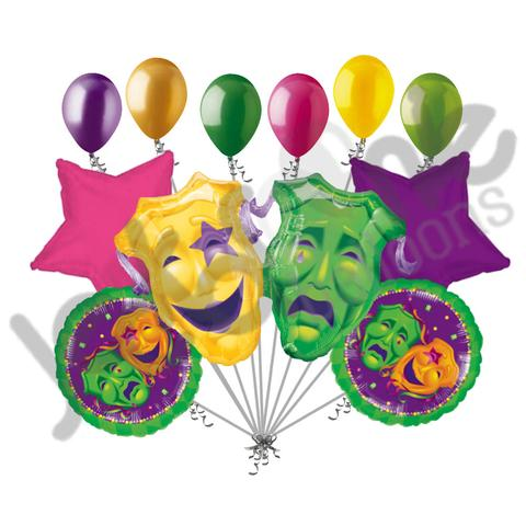 480x480 Comedy Tragedy Masks Mardi Gras Balloon Bouquet Jeckaroonie Balloons