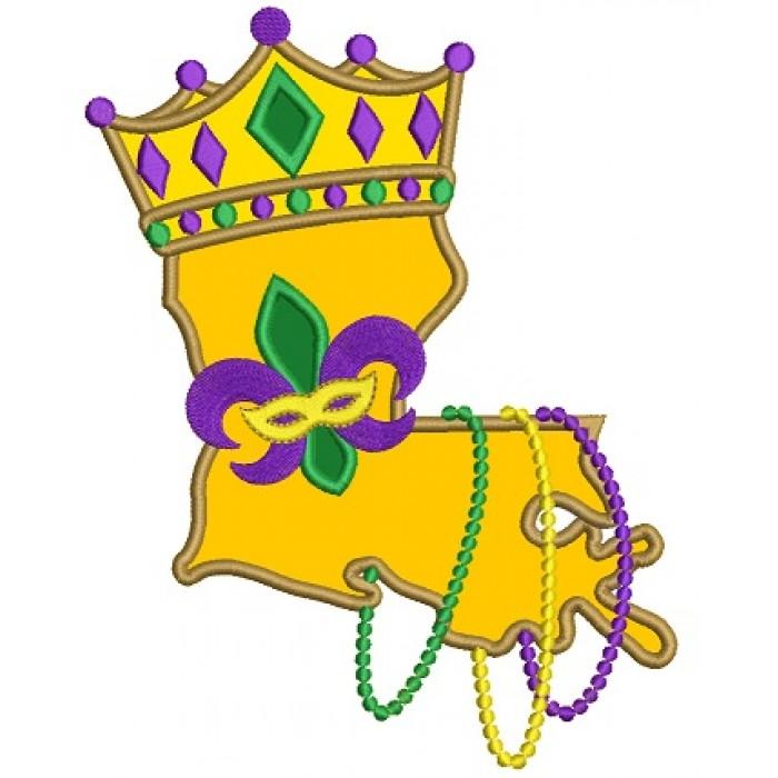 700x700 Louisiana State Mardi Gras