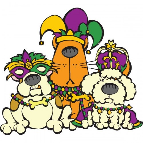 500x500 Mardi Gras Free Printable Coloring Page For Pet Lovers! Woof