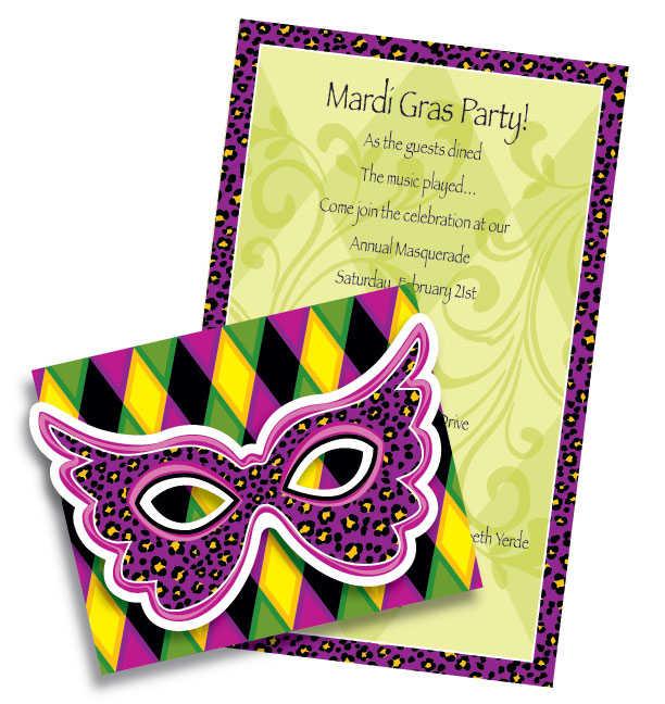 612x648 Mardi Gras Invitations Mardi Grass Party Invites