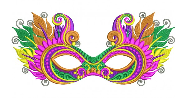 600x315 Mardi Gras Mask With Fancy Feathers And Ornaments Filled Machine
