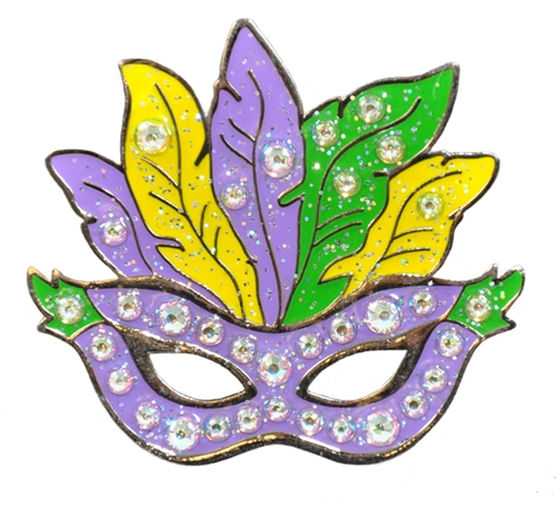 500x457 Navika Mark Your Spot Mardi Gras Mask Ball Marker Adorned