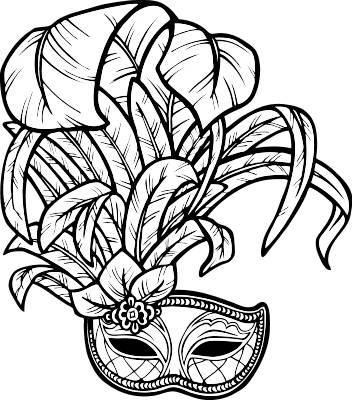 Mardi Gras Mask Clipart