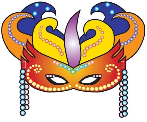 500x418 106 Best Masquerade Party Images Clip Art, Masks