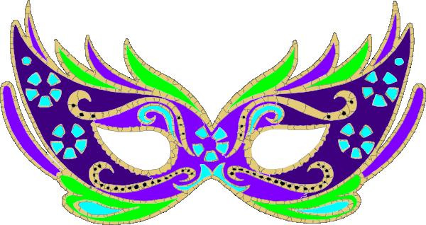 600x318 Purple Blue Green Masquerade Mask