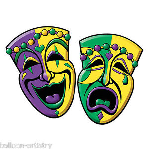 300x300 2 Mardi Gras Carnival Party Comedy Tragedy Mask Face Cutouts