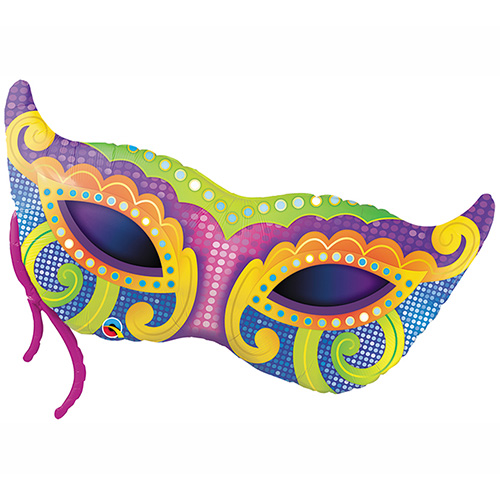 500x500 Mardi Gras Mask Balloon Ultimate Party Super Store