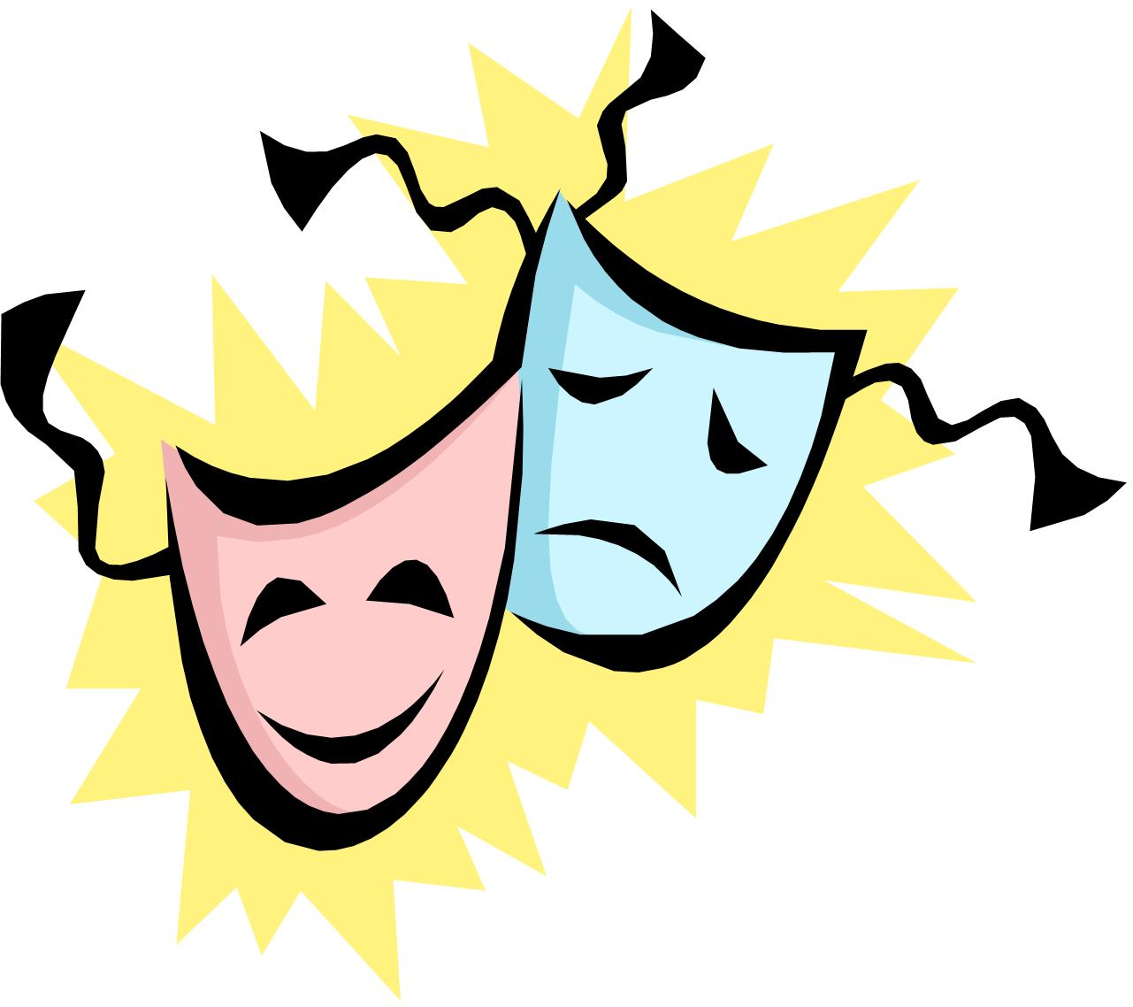 1281x1138 Free Drama Masks Clipart
