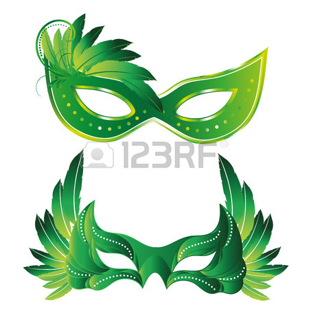 450x450 370 Mask Mardi Gras Of Bright Feathers Stock Illustrations