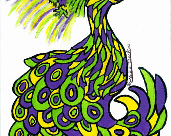 340x270 Mardi Gras Peacock Etsy