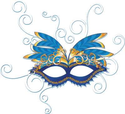 400x367 Mauve Clipart Masquerade Mask