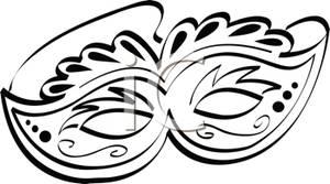 300x167 White Mask Clip Art Cliparts