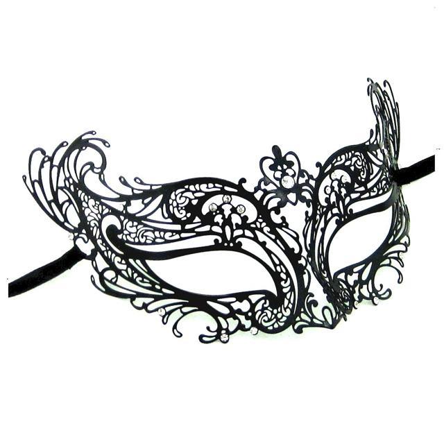 640x640 White Clipart Masquerade Mask