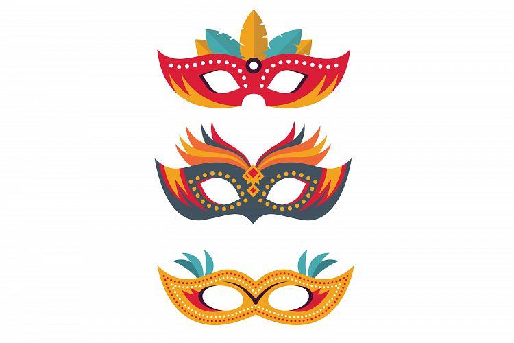 750x500 Mardi Gras Masks,carnival Masks,circus Design Bundles