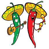 170x170 Clip Art Of Chili Pepper Mariachi Cartoon K16763397