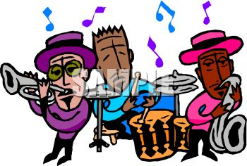 350x236 Jazz Band Clipart
