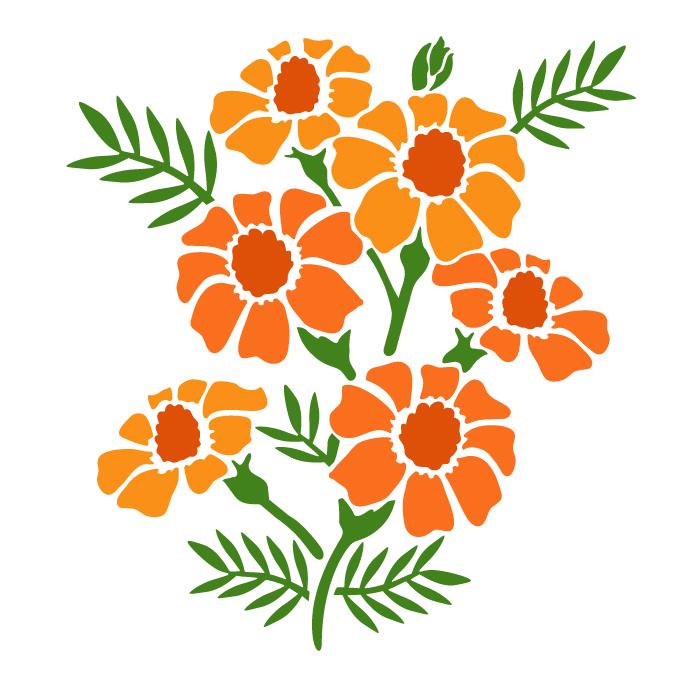 700x700 Marigold Svg, Flower Svg, Botanical Svg, Rose Svg, Pansy, Herbs