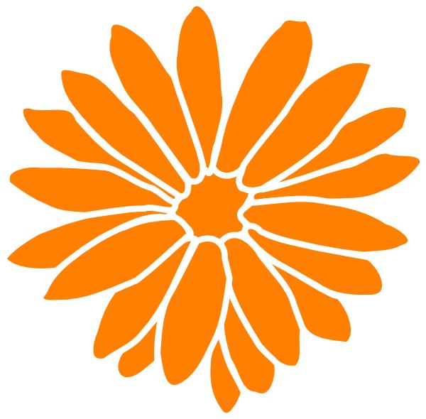 600x590 Orange Dahlia Clip Art
