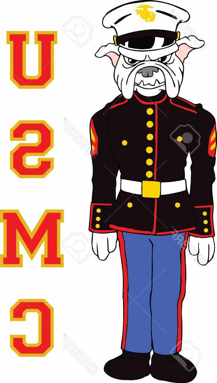 738x1300 Top 10 Marines Can Show Their Pride With Bulldog Logo Stock Vector