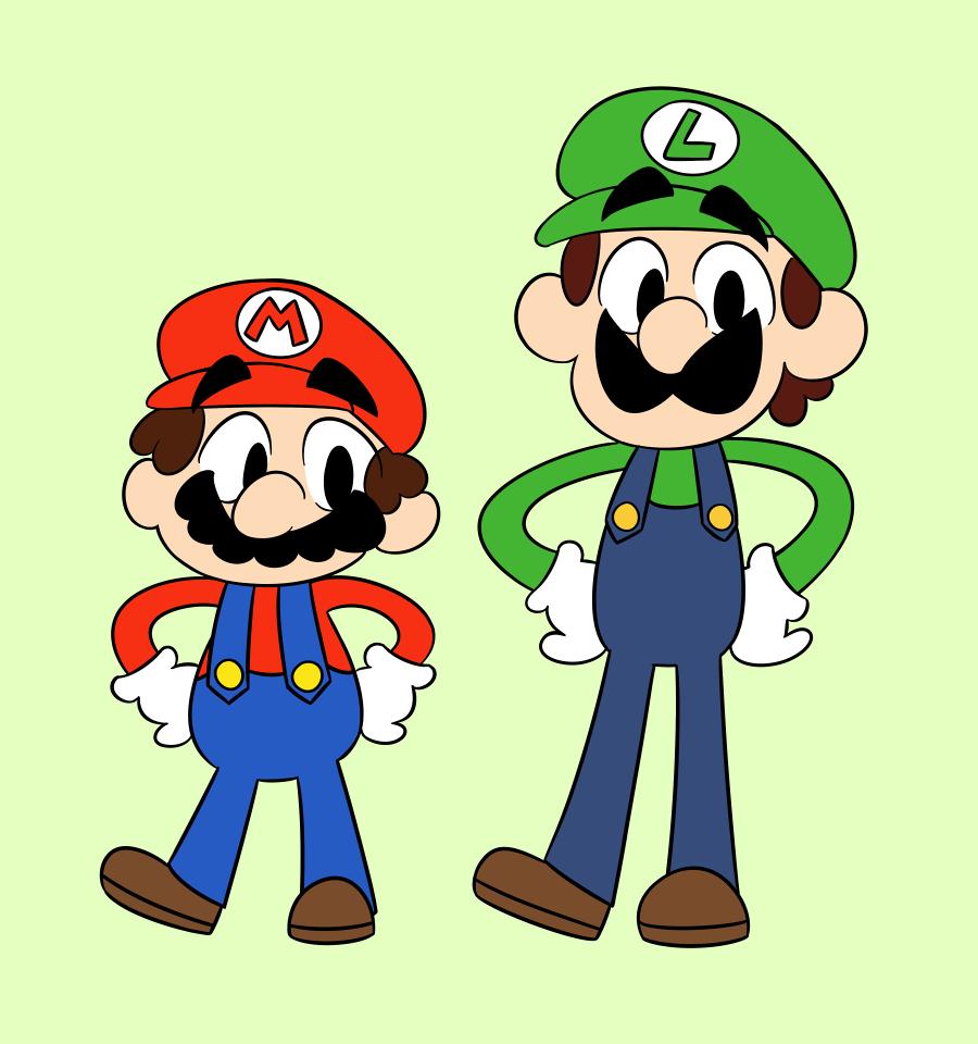 900x960 Mario Bros. Chibi! By Relyon