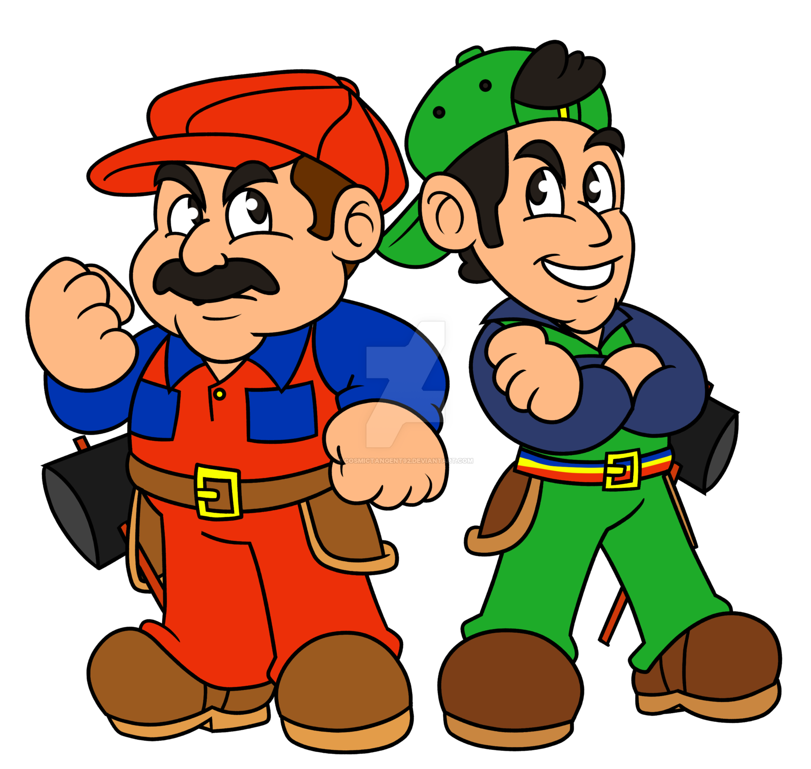 1600x1518 The Mario Brothers By Cosmictangent92