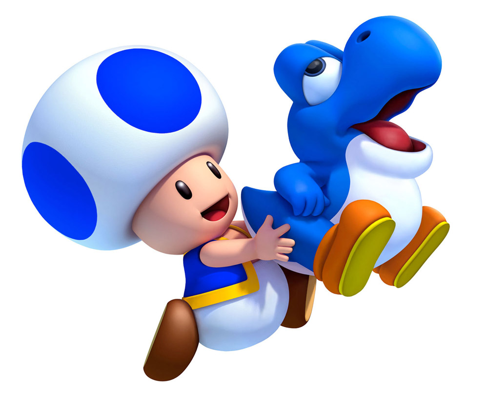 1000x850 Blue Toad Amp Bubble Baby Yoshi