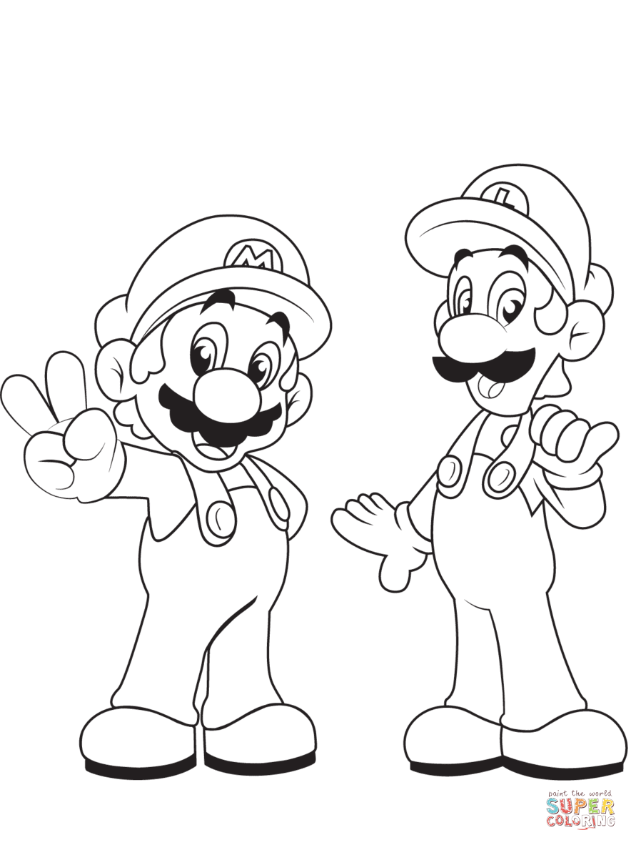 884x1182 Mario Coloring Pages Free Coloring Pages