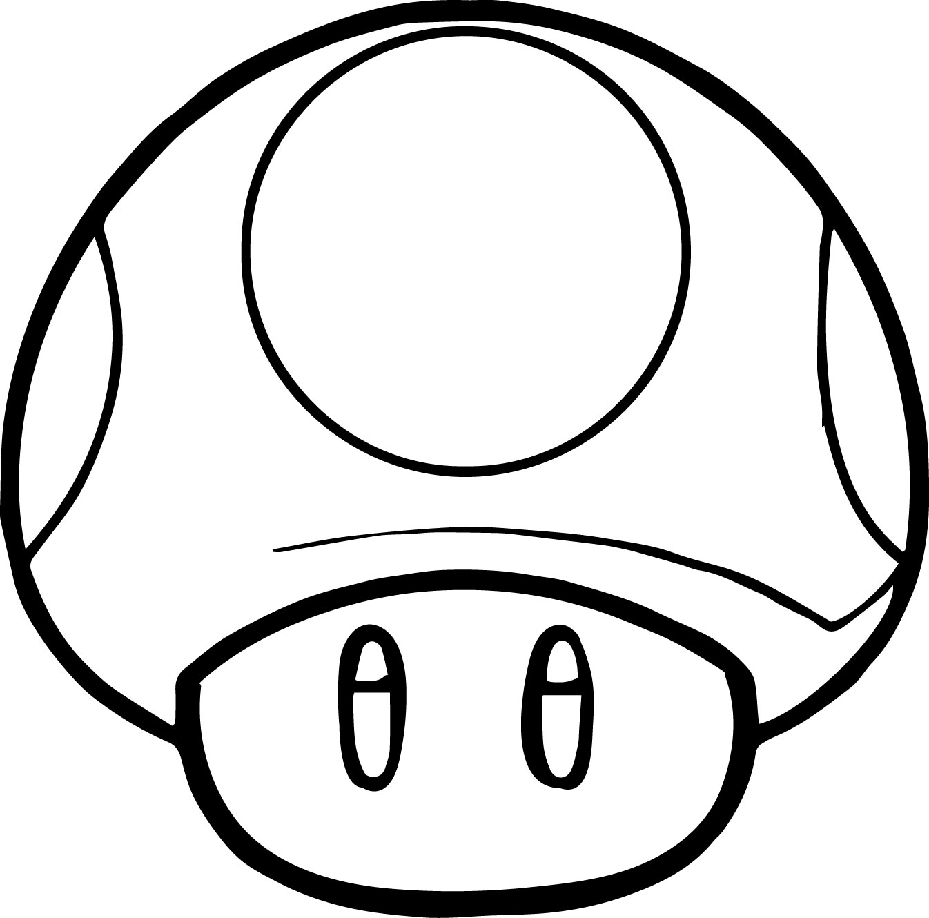1346x1330 Mario Coloring Pages Mushroom