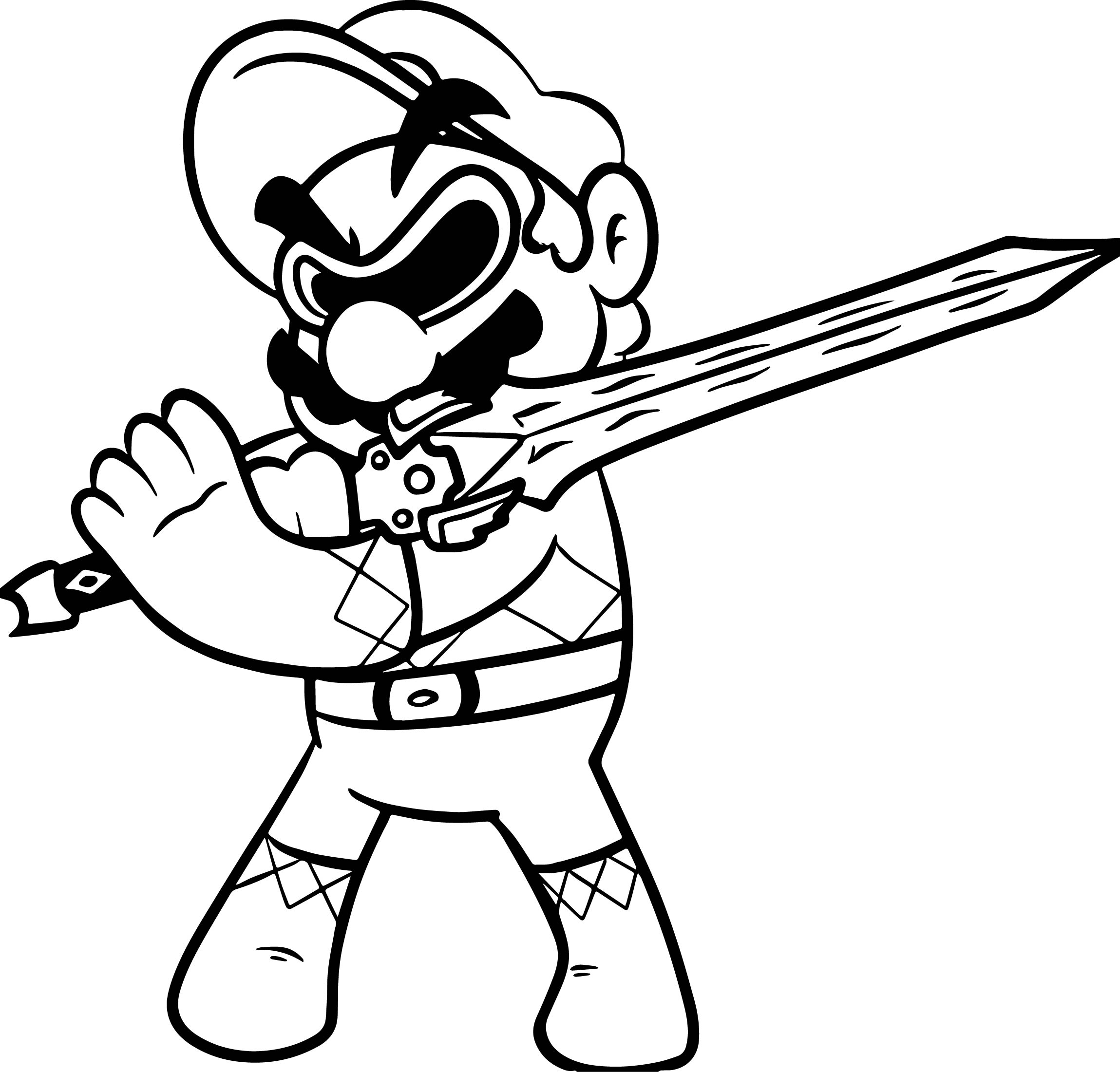 Free Download Best Mario Coloring